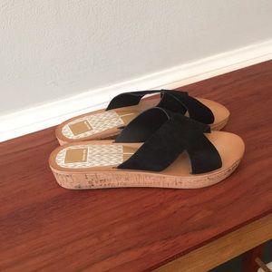 Dolce Vita low platform black sandals